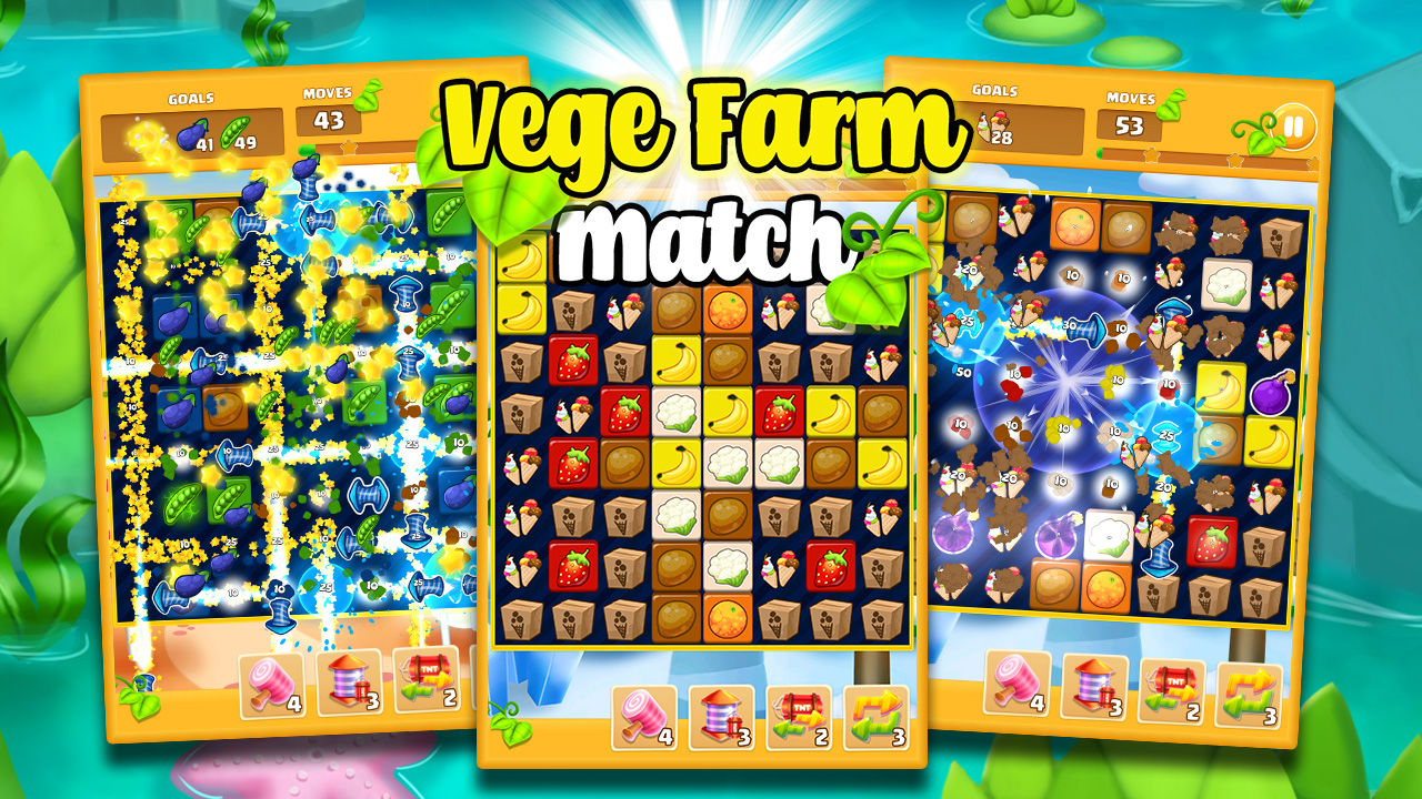 Vege Farm Match - gameplay tap to match ads